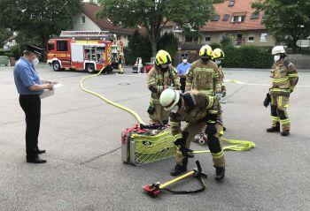 Übung Nummer 1 - Zimmerbrand mit Innenangriff